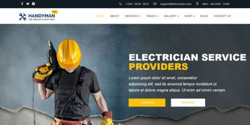 home-website-business-electrician